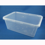 1000ml Rectangular Container + Lid - Packaging Direct