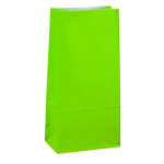 No4 Lime Green Block Bottom Gift Bag - Packaging Direct