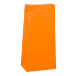 No4 Orange Block Bottom Gift Bag - Packaging Direct