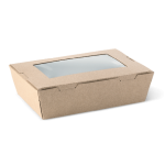 Ex-Small Brown Window Box - Packaging Direct
