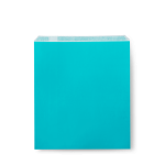 #24 Turquoise Flat Bags 190x150mm - Packaging Direct