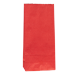 No4 Red Block Bottom Gift Bag - Packaging Direct