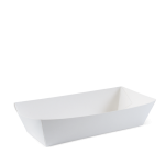 White Eco Hot Dog Food Trays - Packaging Direct
