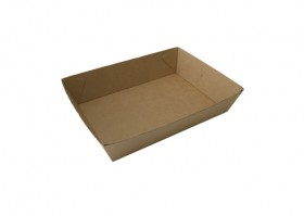 No3 Brown Board Open Tray - Packaging Direct