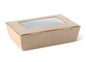 Small Brown Window Lunch Box - Packaging Direct