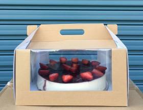 """10x10x4"""" Pack & Carry Cake Box - Packaging Direct"""