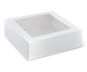 "9"" Shallow Window Cake Box - Packaging Direct"