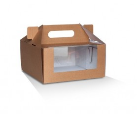 """8x8x4"""" Pack & Carry Cake Box - Packaging Direct"""