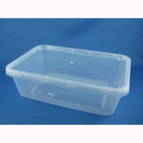 650ml Rectangle Container + Lid - Packaging Direct
