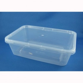 750ml Rectangle Container + Lid - Packaging Direct