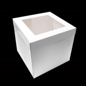 "10"" Tall Cake Box with Window Lid - Packaging Direct"