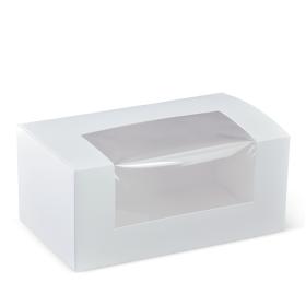 Medium Patisserie Box w/Window - Packaging Direct