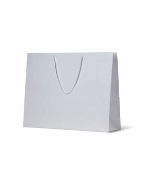 X-Large Matte Laminated White Paper Bag - Packaging Direct
