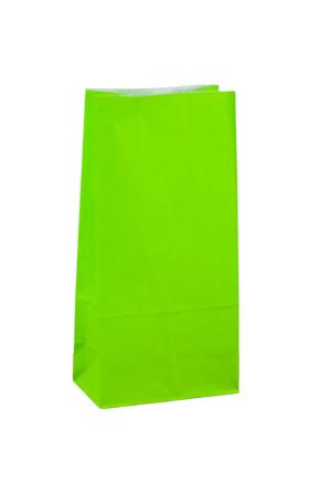 No4 Lime Green Block Bottom Gift Bag - Packaging Direct
