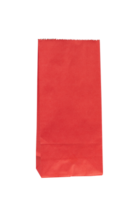 No3 Red Block Bottom Gift Bag - Packaging Direct